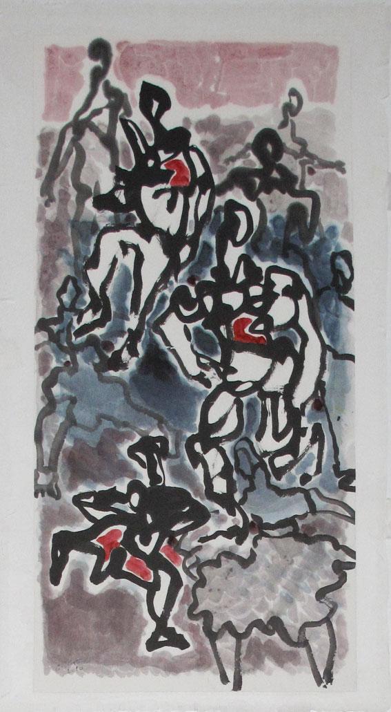 Foule 2011 70x35 cm